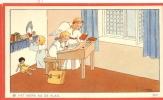 Chromo Devotie Illustr. J. Gouppy - Het Werk Na De Klas - Engeltjes - Images Religieuses