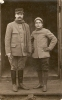 Cpa Carte-photo De Deux Prisonniers Du Camp De Schneidemühl En Posnanie, 276e RI, Paris - Weltkrieg 1914-18