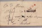 Précurseur-1722-,2 Griffes(rouge + LIMOGES+ Déboursé 12)+ Griffe Arrière, Vers Brabants (Ormignies) - 1701-1800: Precursors XVIII