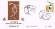 Carta Exposicion Barcelona 1989. Atletismo. Discobolo - 1981-90 Cartas