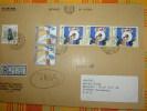 Einschreibbriefe Echt Gelaufen.Zypern Nicosia Nach Nürnberg 1989 - Briefe U. Dokumente