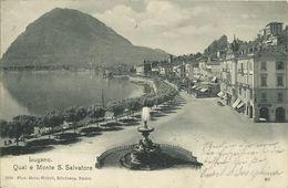 AK Lugano Tessin Quai E Monte Salvadore 1903 #02 - TI Tessin