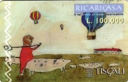 *ITALIA: TISCALI - RICARICASA* -  Scheda Usata (Tipo B) - Italia