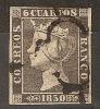 España U 0001a (o) Isabel II. 1850. Foto Exacta - Usados