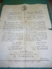 2M4-NAPOLEONICO REP.CISALPINA ARMEE D´ITALIE Manifesto Cm.52,50x40,50 Bilignue DECRETO GENERALE IN CAPO+EN TETE - Affiches