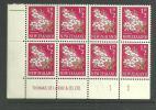 NEW ZEALAND - 1960 1/2d MANUKA PICTORIALS PLATE 1 1 1 BLOCK OF 8.   UHM - New Zealand