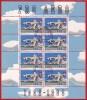 Feuillet / Kleinbogen ** Mit 8 Marken Pro Aero, Nr 149, 30.III.1988, Amriswil - Airmail