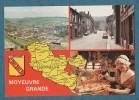 MOYEUVRE- GRANDE( MOSELLE)- Rue Fabert- Carte Géographique-blason- Multivues-  10.5 X 15 - EUROP PIERRON - Unclassified