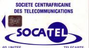 CENTRAFRICAINE SOCATEL 60U SC5 BLEUE N° 43761 GE - Central African Republic
