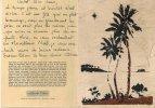 Carte Double  Bon Etat  9x13cm ,  Carton Gaufré Bistre En Relief  , Beau ,  Lire Explications Au Verso - Tonga