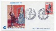 France Enveloppe Dessin Messager Royal .... Journée Du Timbre SALON DE PROVENCE Du 17 Mars1962 Avec Timbre Yvert N° 1332 - Journée Du Timbre