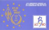 CARTE QSL CARD CQ 1991 RADIOAMATEUR HAM RADIO UBA-DIEST BELGIQUE BELGIE 40 ANS KONING ROI KING BOUDEWIJN BAUDOIN - Radio Amateur