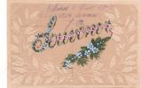 """18879 Carte Sur Rodhoide, Transparente, Peinte ; """" Souvenir """" Fleur Myosotis 1905"""