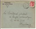 N836 - LAPOUTROIE Haut Rhin - 1935 -Timbre Type PAIX - Entête PAROISSE DE LAPOUTROIE - - Alsace-Lorraine