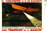 VIEILLES AFFICHES / EXPOSITION D'UN MONOPLAN GENRE TRAVERSEE DE L'ATLANTIQUE - Aviation