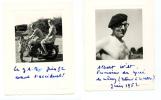 SOLUTRE /  GRANGE DU BOIS 2 Photos MOTO Ancienne Marque ? - 1952 - Accident A. WILT Proviseur Lycée De Mâcon + IGIER - Sport