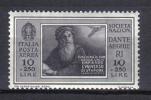 R537 - REGNO 1932 , Della Serie Dante Alighieri Il N. 31 Di Posta Aerea  ***  MNH - 1900-44 Vittorio Emanuele III