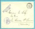 Brief ST-ADRESSE / POSTE BELGE 13/08/18,stempel GOUVERNEMENT BELGE / Ministere..Justice + TRIBUNAL DE YPRES !!! - Weltkrieg 1914-18