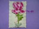 CPA FANTAISIE - Bonne Année - Carte Système - Rose, Fleur, Ruban Tissu, Découpis, Carte En Relief - SUPERBE - Dreh- Und Zugkarten