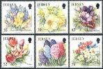 """JERSEY : 01-04-2009 (** - MNH) Set 6v  : """"Jersey Spring Flowers"""" - Jersey"""