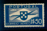 Portugal - 1936 Air Mail 1$50 - Af. CA 01 - MH - Nuovi