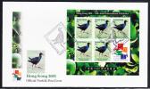 Norfolk Island Scott #720 FDC 45c Tarler Bird Sheet Of 5 Plus Label For Hong Kong 2001 - Ile Norfolk
