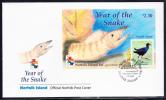 Norfolk Island Scott #721 FDC Souvenir Sheet $2.30 Tarler Bird - Year Of The Snake - Ile Norfolk
