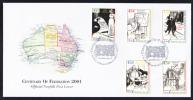 Norfolk Island Scott #722-730 2 FDCs Set Of 9 Centenary Of Australian Federation - Ile Norfolk