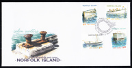 Norfolk Island Scott #740-743 FDC Set Of 4 Boats - Ile Norfolk