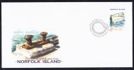 Norfolk Island Scott #744 FDC 45c Whaler, Vertical - Boats - Ile Norfolk