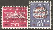 Switzerland 1960 ONU / UNO Mi# 31-32 Used - Servizio