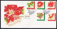 Norfolk Island Scott #748-752 FDC Set Of 5 Flowers And Song Lyrics - Christmas - Ile Norfolk