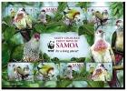 SAMOA FRUIT DOVE OISEAUX TROPICAUX // FEUILLET NEUF *** WWF  (MNH SHEET) - W.W.F.