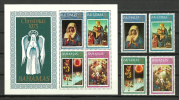Bahamas1973 ( Christmas - Painting By Sassoferrato, Lippi, Marmion & Murillo ) - Complete Set With MS - MNH (**) - Religión