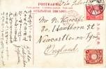 Japan  Postal History Tochigi  To England Via Siberia 1908 - Japan