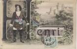 Large Letter ´Henri´ French Man Name, C1900s Vintage Postcard - Firstnames