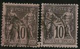 FRANCE - Yvert - 89 Et 89 A - Cote 3 € - 1876-1898 Sage (Type II)