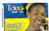 SURINAME (SURINAM) - TELE G  (GSM RECHARGE) - ATHLETIC: RUNNING (LETITIA VRIESDE)      - USED  -  RIF. 2040 - Surinam