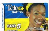 SURINAME (SURINAM) - TELE G  (GSM RECHARGE) - ATHLETIC: RUNNING (LETITIA VRIESDE)      - USED  -  RIF. 2040 - Suriname