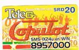 SURINAME (SURINAM) - TELE G  (GSM RECHARGE) - COPULOT   - USED  -  RIF. 2042 - Suriname