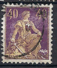 CH107 - Helvetie Avec épée No 107 Obl. - Used Stamps