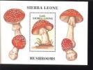 SIERRA LEONE  958 MINT NEVER HINGED SOUVENIR SHEET OF MUSHROOMS - Paddestoelen