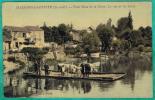 CPA YVELINES (78) - MAISONS-LAFFITTE - PETIT BRAS DE LA SEINE - LE BAC ET LES BAINS - Maisons-Laffitte