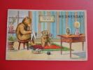 Bear  Embossed  Wednesday  1908 Cancel No Stamp = = =  = =   Ref 351 - Bears