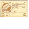Birth Announcement Stork Leave Us A Dear Little Baby Girl We Shall Call Her Postcard - Birth