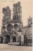 D�p. 02 - LAON (Aisne) - La Cath�drale. Edition Fran�aise Paris. Affichage vins spiritueux et aff. r�sident.