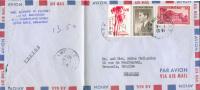 Lettre De SAIGON Vietnam (soldat De LIttle Rock Arkansas) Par Avion Le 1-4-1957 Vers Bruxelles - 7468 - Viêt-Nam