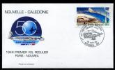 NOUVELLE CALEDONIE - FDC 1949 PREMIER VOL RÉGULIER PARIS - NOUMÉA - PREMIER JOUR 29 SEPT.99 NOUMÉA R.P. - New Caledonia