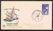 Opening Day Souvenir Cover  Running Cancel - Sommer 1956: Melbourne