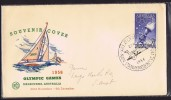 Opening Day Souvenir Cover  High Jump  Cancel - Summer 1956: Melbourne